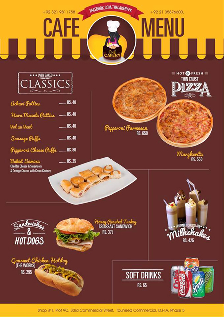 New York Cafe Karachi Zamzama Menu