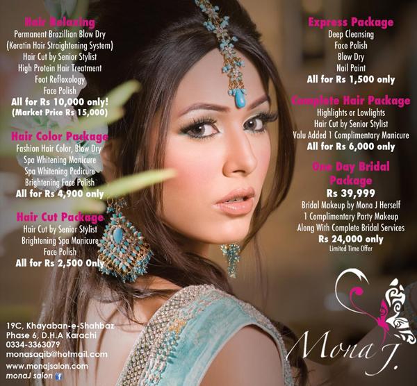 Top beauty salons day spas in karachi at karachi for Mona j salon karachi